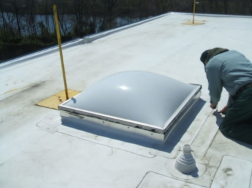 Clean Skylight Domes