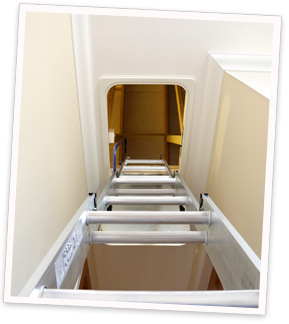 Make your attic stairs